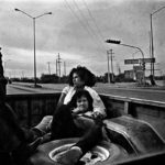 Hitch-hiking from the industrial aerea to the town. Piedras Negras, Mx 1994.