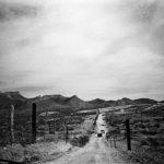 Ranch La Campana- The desertic area around the Ranch La Campana -road Casa Grandes - where a mass grave was found on the fall 2001. Ciudad Juarez 3-2002.